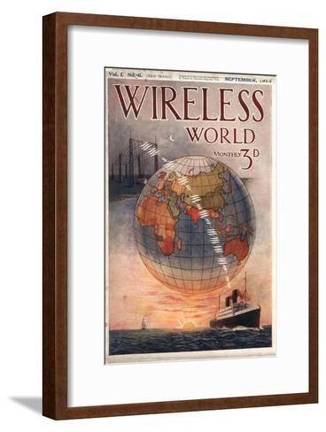 Wireless world, Radios Magazine, UK, 1916--Framed Art Print