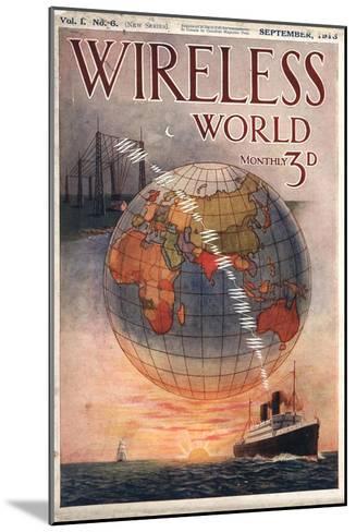 Wireless world, Radios Magazine, UK, 1916--Mounted Giclee Print