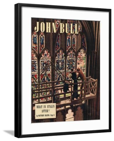 John Bull, Churches Stained Glass Windows Repairs Magazine, UK, 1948--Framed Art Print