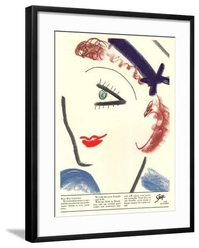 Stage, Picasso, USA, 1930--Framed Art Print