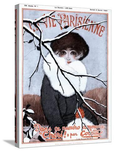La Vie Parisienne, Glamour Magazine, France, 1920--Stretched Canvas Print