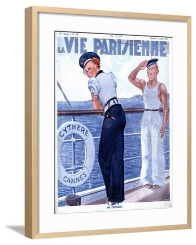 La Vie Parisienne, Nautical Magazine, France, 1937--Framed Art Print