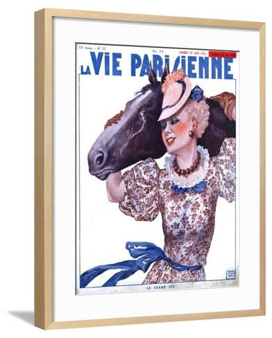 La Vie Parisienne, Horse Magazine, France, 1936--Framed Art Print