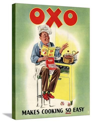 OXO, Chefs Cooking, UK, 1950--Stretched Canvas Print