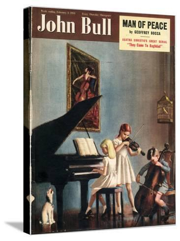 John Bull, Pianos Instruments Playing Cellos Violins Dogs Magazine, UK, 1951--Stretched Canvas Print