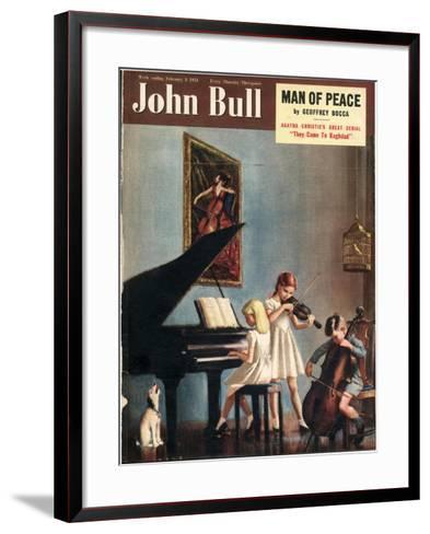 John Bull, Pianos Instruments Playing Cellos Violins Dogs Magazine, UK, 1951--Framed Art Print