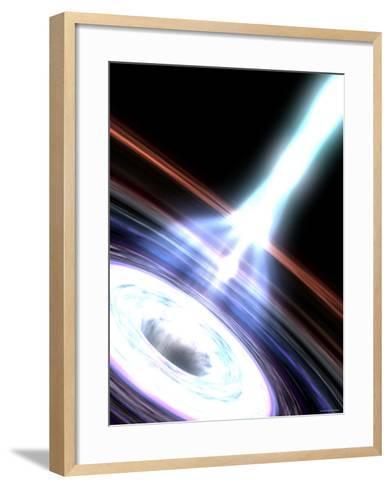 Gamma Rays in Galactic Nuclei-Stocktrek Images-Framed Art Print