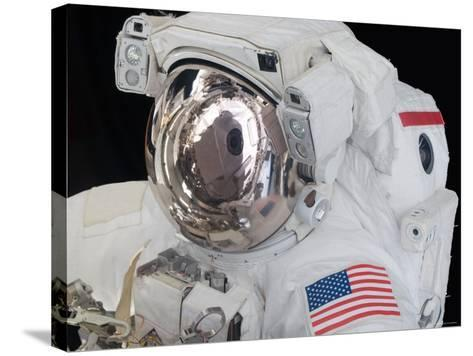 Close-Up View of an Astronaut's Helmet Visor-Stocktrek Images-Stretched Canvas Print