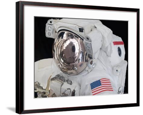 Close-Up View of an Astronaut's Helmet Visor-Stocktrek Images-Framed Art Print