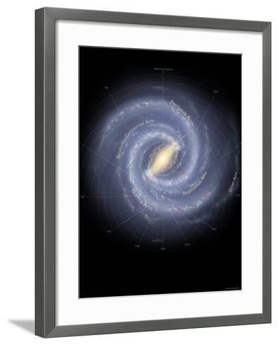Milky Way Galaxy-Stocktrek Images-Framed Art Print