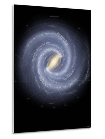 Milky Way Galaxy-Stocktrek Images-Metal Print