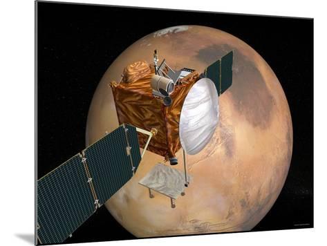 Nasa's Mars Telecommunications Orbiter in Flight around Mars-Stocktrek Images-Mounted Photographic Print
