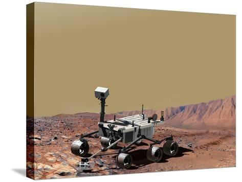 Nasa's Mars Science Laboratory-Stocktrek Images-Stretched Canvas Print