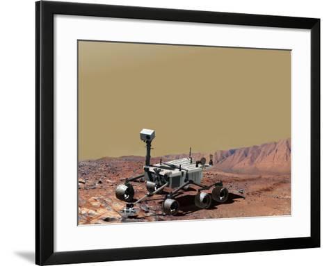 Nasa's Mars Science Laboratory-Stocktrek Images-Framed Art Print