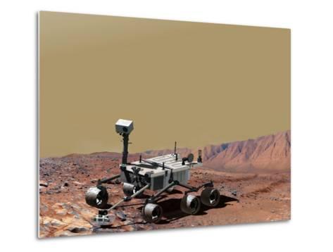 Nasa's Mars Science Laboratory-Stocktrek Images-Metal Print