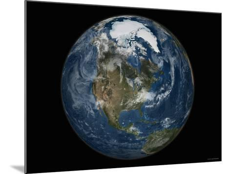 Full View of the Earth with the Full Arctic Region Visible-Stocktrek Images-Mounted Photographic Print