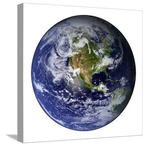 Full Earth Showing North America-Stocktrek Images-Stretched Canvas Print
