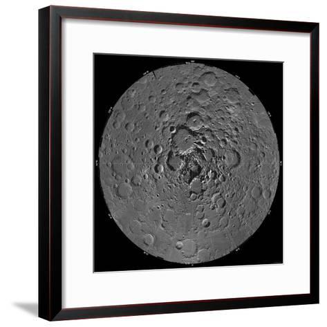 Lunar Mosaic of the North Polar Region of the Moon-Stocktrek Images-Framed Art Print