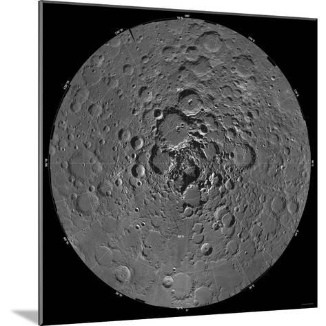 Lunar Mosaic of the North Polar Region of the Moon-Stocktrek Images-Mounted Photographic Print
