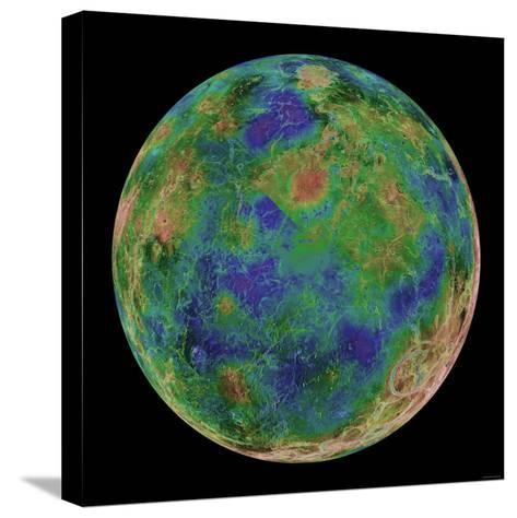 Venus Centered on the South Pole-Stocktrek Images-Stretched Canvas Print