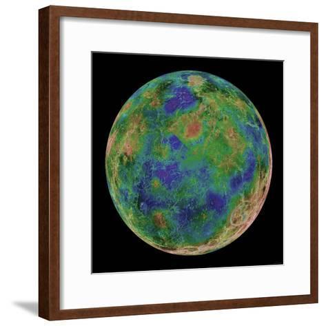 Venus Centered on the South Pole-Stocktrek Images-Framed Art Print