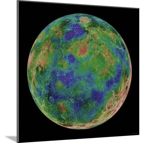 Venus Centered on the South Pole-Stocktrek Images-Mounted Photographic Print