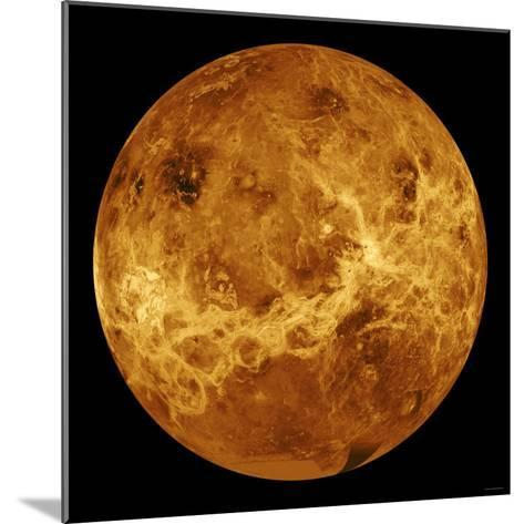 Global View of the Surface of Venus-Stocktrek Images-Mounted Photographic Print
