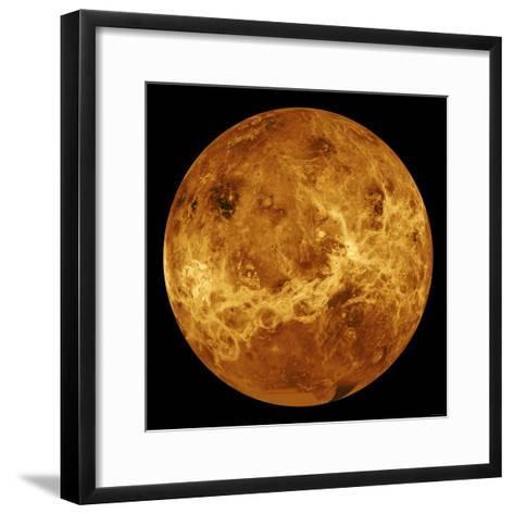Global View of the Surface of Venus-Stocktrek Images-Framed Art Print