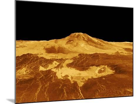 3D Perspective View of Maat Mons on Venus-Stocktrek Images-Mounted Photographic Print
