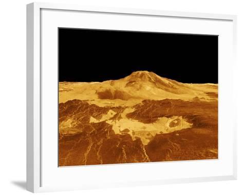 3D Perspective View of Maat Mons on Venus-Stocktrek Images-Framed Art Print