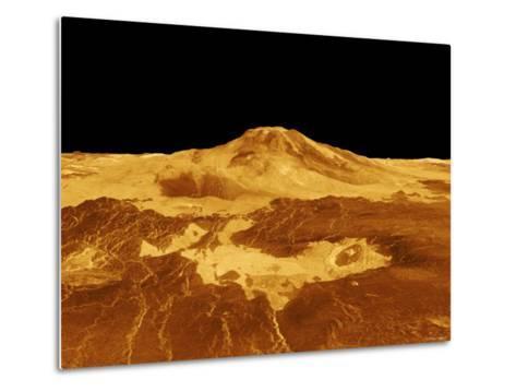 3D Perspective View of Maat Mons on Venus-Stocktrek Images-Metal Print