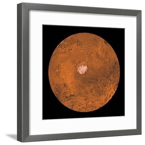 Mare Australe Region of Mars-Stocktrek Images-Framed Art Print