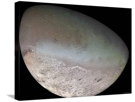 Triton, the Largest Moon of Planet Neptune-Stocktrek Images-Stretched Canvas Print