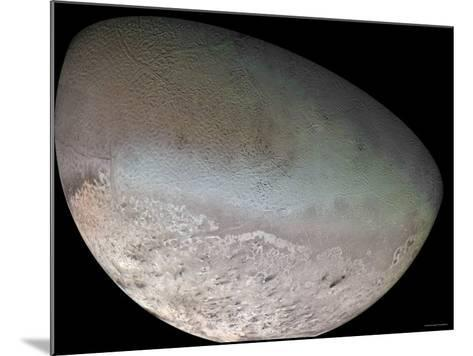Triton, the Largest Moon of Planet Neptune-Stocktrek Images-Mounted Photographic Print