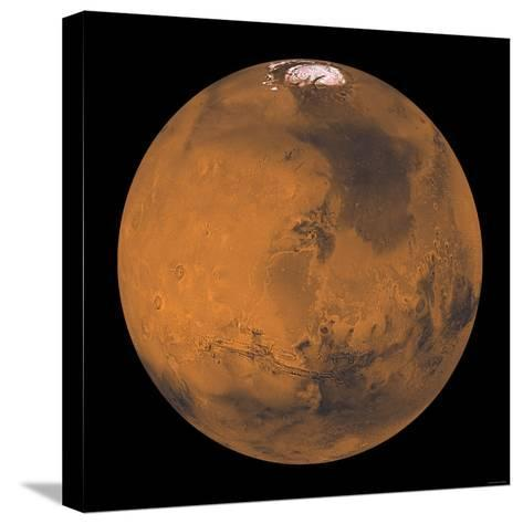 Global Color View of Mars-Stocktrek Images-Stretched Canvas Print