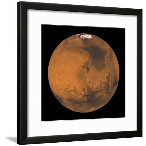 Global Color View of Mars-Stocktrek Images-Framed Art Print