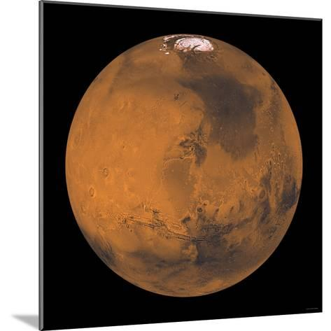 Global Color View of Mars-Stocktrek Images-Mounted Photographic Print