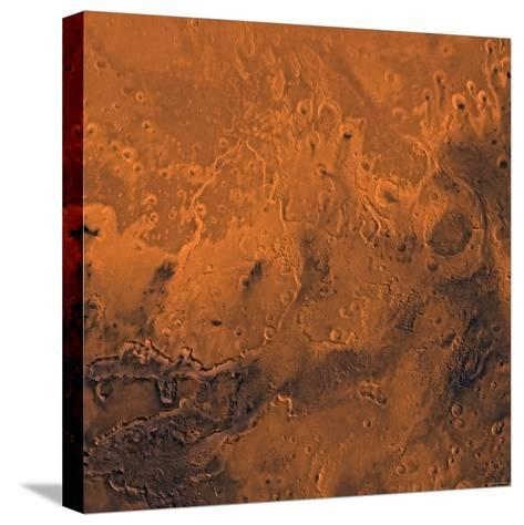South Chryse Basin Valles Marineris Outflow Channels on Mars-Stocktrek Images-Stretched Canvas Print