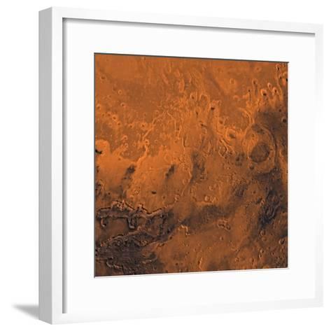 South Chryse Basin Valles Marineris Outflow Channels on Mars-Stocktrek Images-Framed Art Print