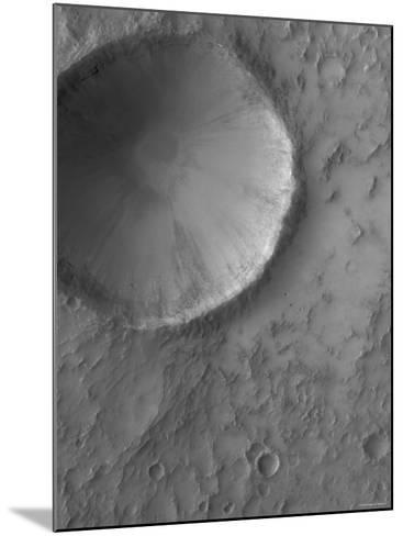 Impact Crater on Mars-Stocktrek Images-Mounted Photographic Print