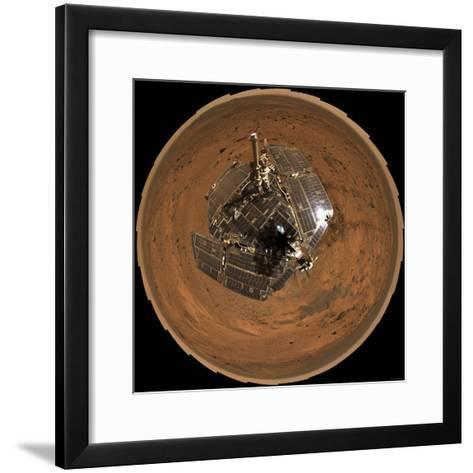 Mars Exploration Rover on the Surface of Mars-Stocktrek Images-Framed Art Print