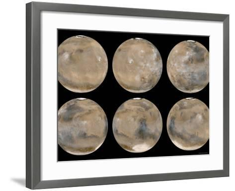 Mid-Northern Summer/Southern Winter on Mars-Stocktrek Images-Framed Art Print