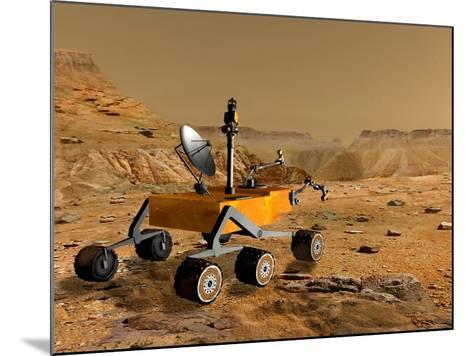 Mars Science Laboratory Travels Near a Canyon on Mars-Stocktrek Images-Mounted Photographic Print