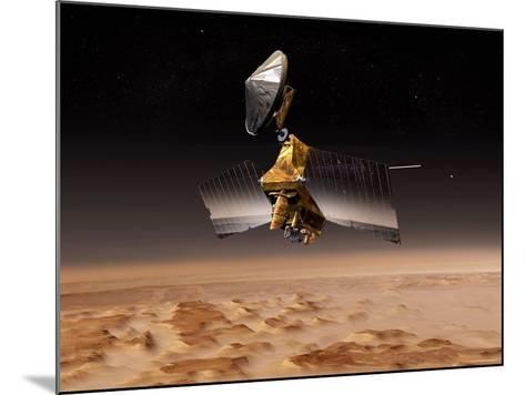 Mars Reconnaissance Orbiter Passes above Planet Mars-Stocktrek Images-Mounted Photographic Print