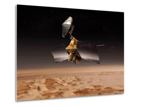 Mars Reconnaissance Orbiter Passes above Planet Mars-Stocktrek Images-Metal Print