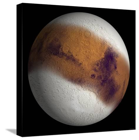 Simulated View of Mars-Stocktrek Images-Stretched Canvas Print