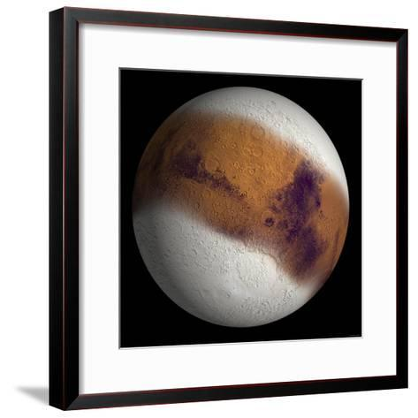 Simulated View of Mars-Stocktrek Images-Framed Art Print