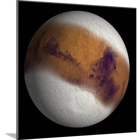 Simulated View of Mars-Stocktrek Images-Mounted Photographic Print