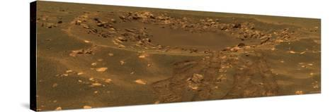 Impact Crater in the Meridian Planum Region of Mars-Stocktrek Images-Stretched Canvas Print