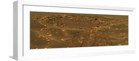 Impact Crater in the Meridian Planum Region of Mars-Stocktrek Images-Framed Art Print